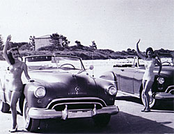 Cocoa Bech historical photo - Two ladies posing by cars