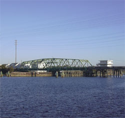 photo of a bridge at Surf City, NC
