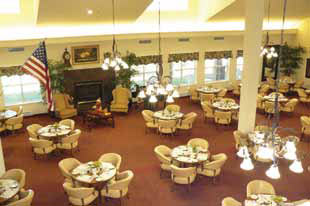 Dining area at Eagle Crest